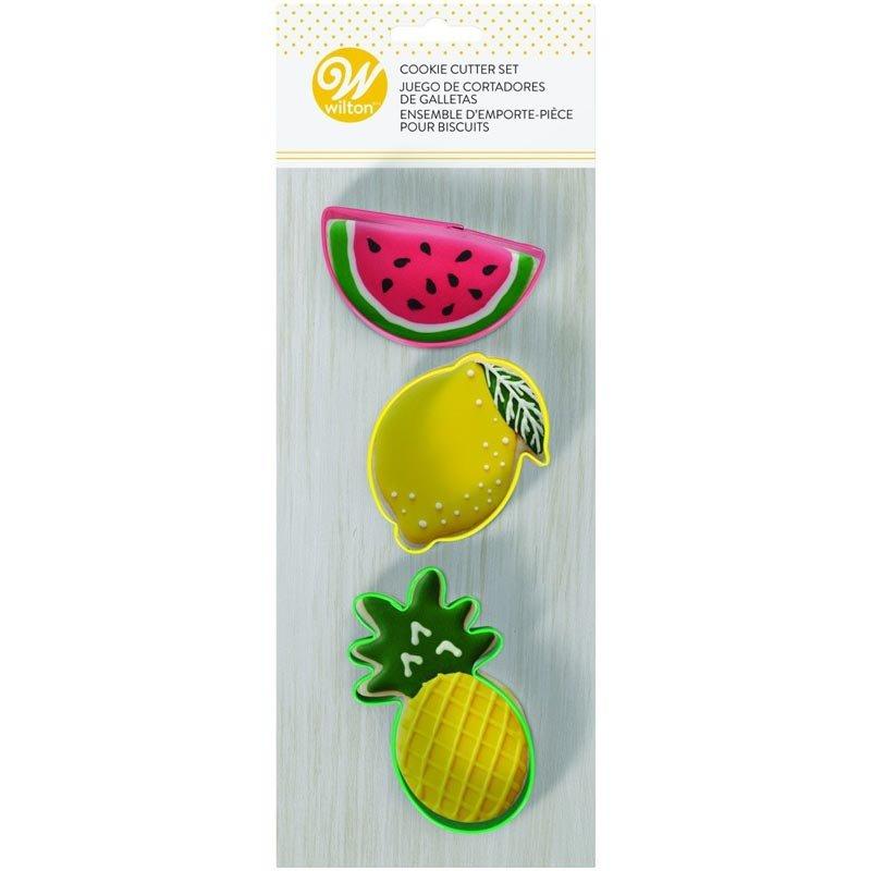 Emporte-pièce métal Citron, pastèque et ananas Wilton