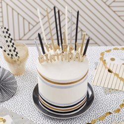 Bougies d'anniversaire Métallique set/25 Wilton