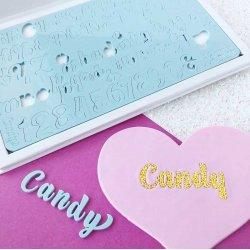 Embosseur CANDY Majuscules, minuscules, nombres et symboles Sweet Stamp