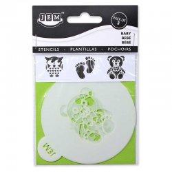 Pochoirs, Stencil baby-shower pk/3 JEM