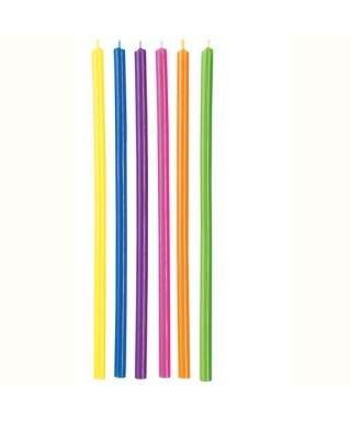 Bougies d'anniversaire Longue Multi Color pack/12 Wilton