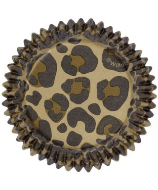 Caissette ColorCups Leopard pk/36 Wilton