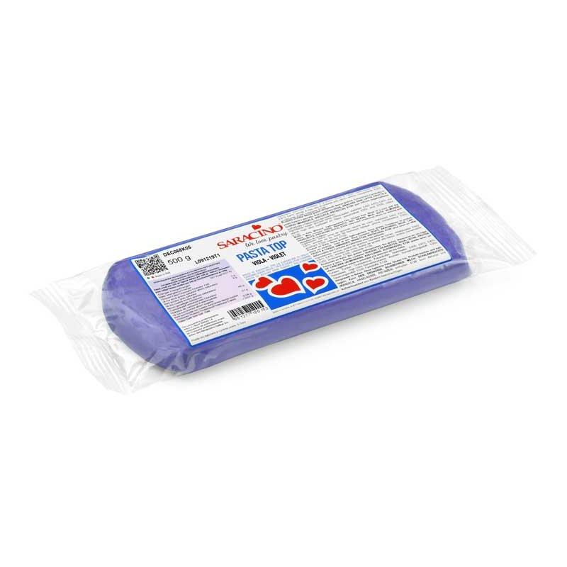 Pâte à sucre Violet TOP 500gr Saracino