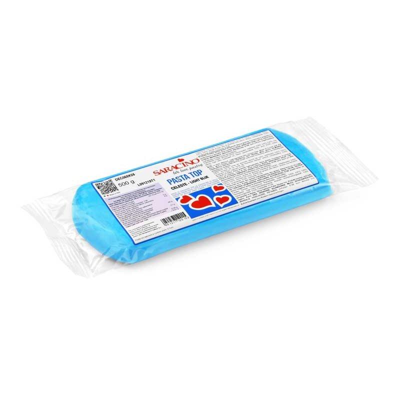 Pâte à sucre Bleu ciel TOP 500gr Saracino