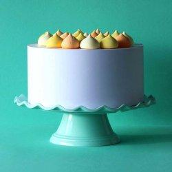 Présentoir, Support à Gâteaux Ondulé Menthe