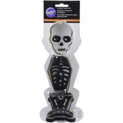 Emporte-pièces squelette Halloween set/3 Wilton