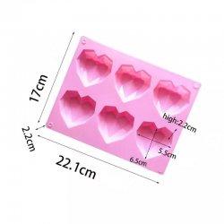 Moule silicone 3D Coeur diamant