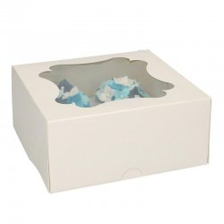 Boîte à 4 Cupcakes Blanc FunCakes