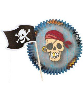 Caissettes Combo Pack Pirate pk/24 Wilton