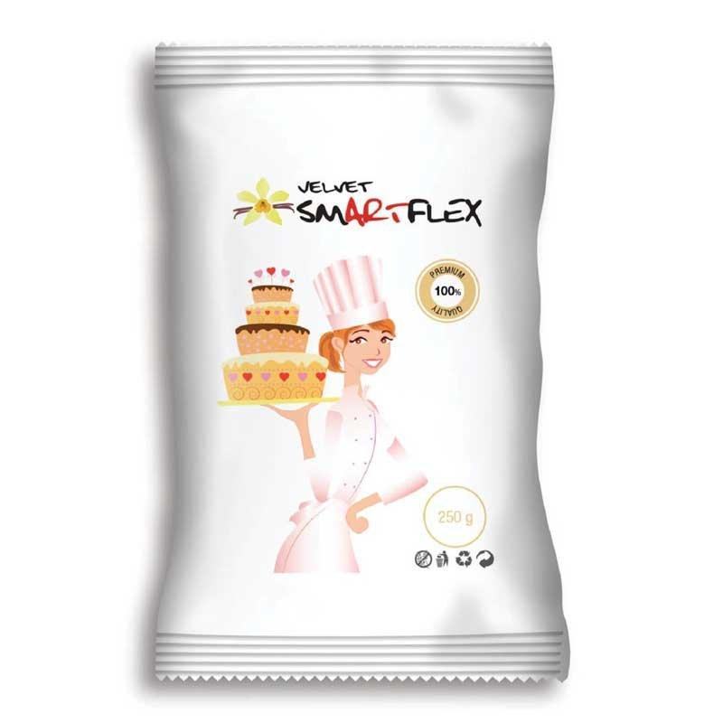 Pâte à sucre Velours blanche 250g Smartflex