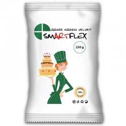 Pâte à sucre Velours Vert gazon 250g Smartflex