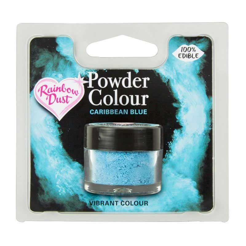 Colorant alimentaire plain and simple Bleu Caraibes Rainbow Dust