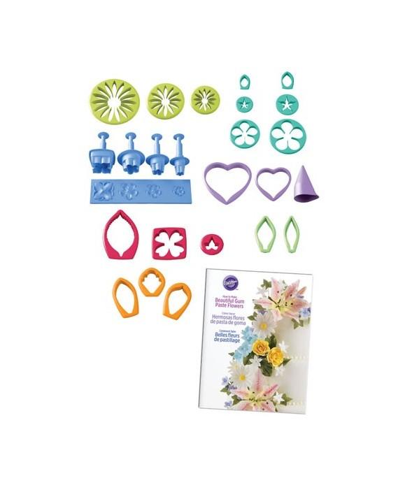 Emporte-pièce Fleur Gum Paste set/26 Wilton