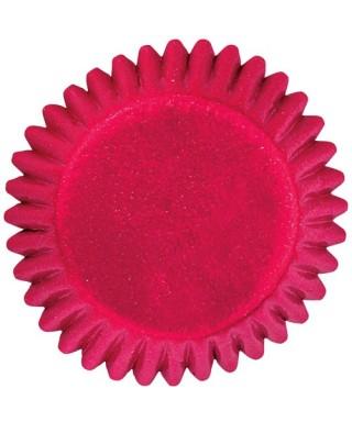 Mini Caissette cupcake feuille décor Rouge Wilton