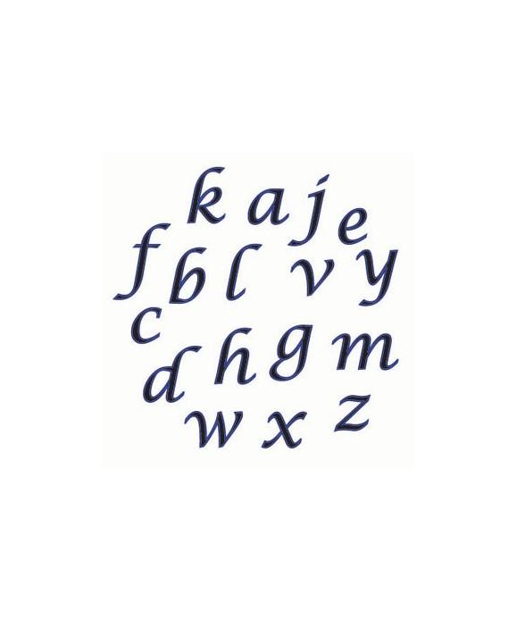 Lettre en Minuscule en format Script FMM Sugarcraft