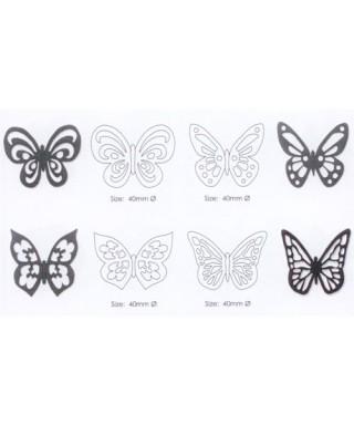 Set de 4 découpoirs Papillons dentelles JEM