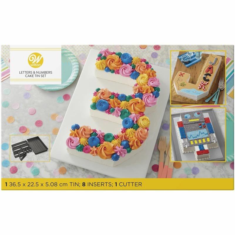 Moule Gâteaux Letter et Number Cakes Wilton