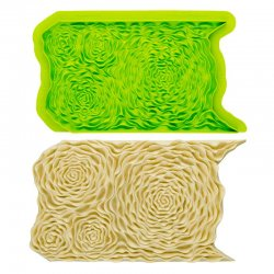 Tapis de texture silicone Rose Ruffle Marvelous Molds