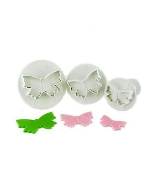 Emporte-pièce poussoir Papillons assortis set/3