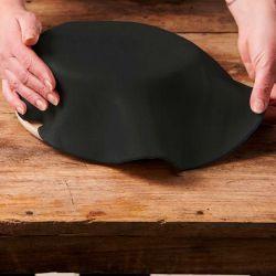 Pâte à sucre prête à l'emploi déjà étalée Noir Funcakes