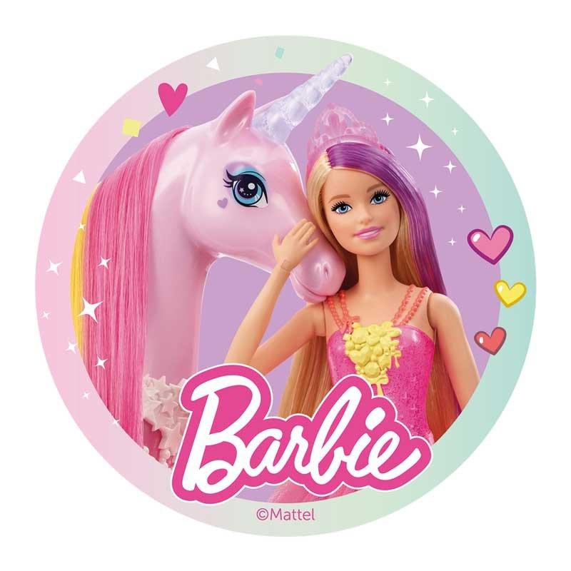 Disque Azyme Barbie et sa licorne