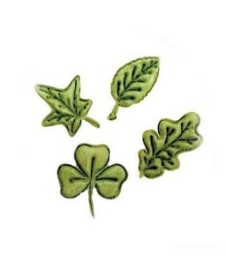 Emporte-pièce Embosseur feuilles set /4 FMM Sugarcraft