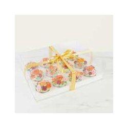 Boîte à 12 Cupcakes Crystal PME