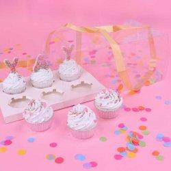 Boîte à 6 Cupcakes Crystal PME