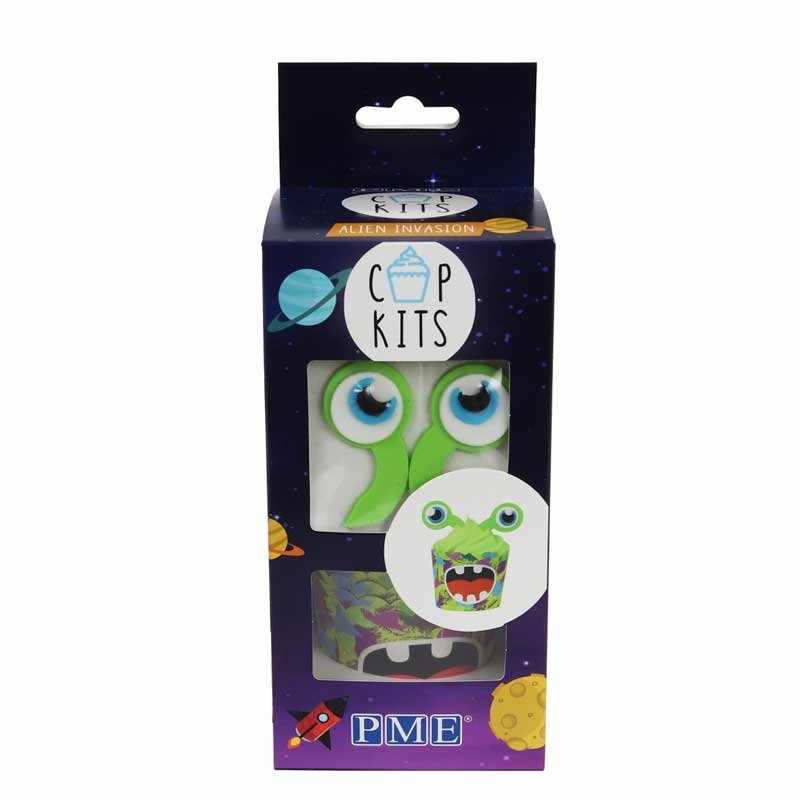 Kit Cupcake Alien Invasion Pk/6 PME