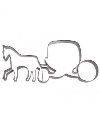 Emporte-pièce métal carrosse et cheval 13cm Städter