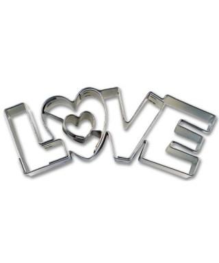 Emporte-pièce métal Love 7,5cm Städter