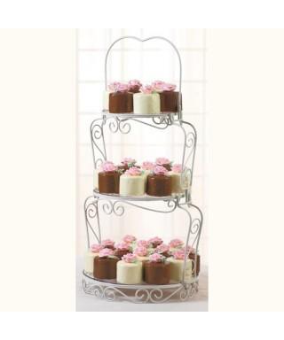 Charmant présentoir à gâteaux à 3 niveaux Wilton