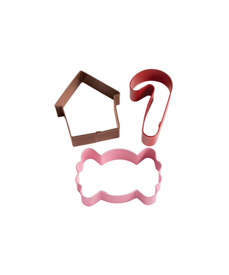 emporte pi ce m tal bonbon canne sucre maison pain d 39 pice set. Black Bedroom Furniture Sets. Home Design Ideas