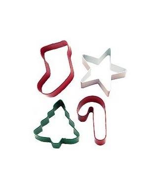 Emporte-pièce métal Formes joyeuses de Noël set/4 Wilton
