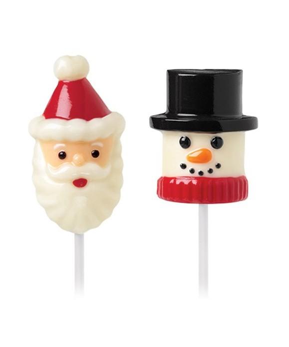 Moule Sucette Bonhomme de neige et le Père Noël Wilton