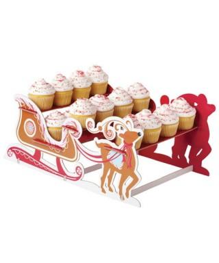 Présentoir à Cupcake Stand Père Noël et renne Wilton