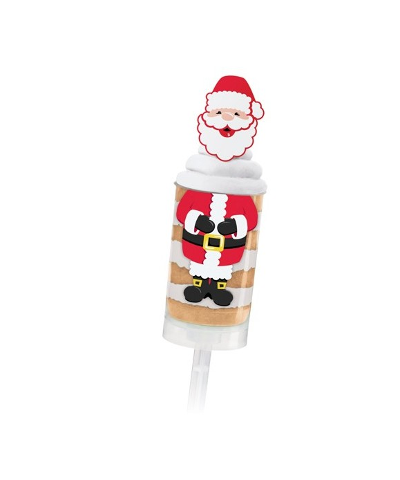 Treat Pops Étiquettes et Picks père noël pk/6 Wilton