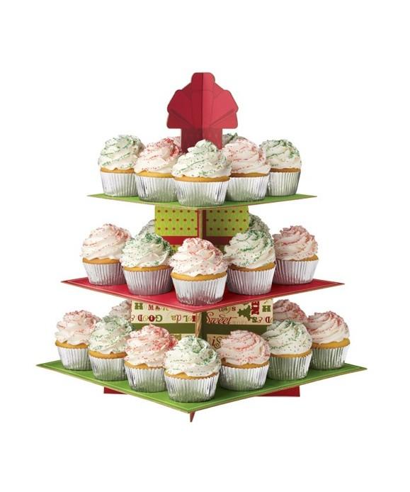 Présentoir à Cupcake Stand Vacance de Noël Wilton
