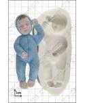 Moule Silicone Bébé qui dort FPC Sugarcraft