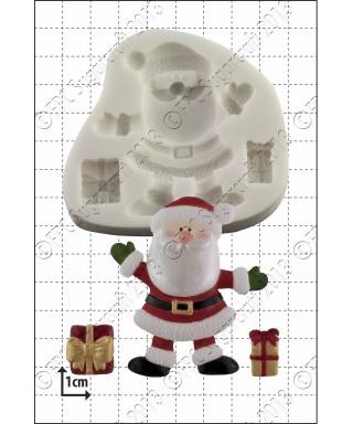 Moule Silicone Père Noël et cadeaux FPC Sugarcraft