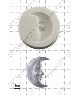 Moule Silicone Face de la lune FPC Sugarcraft