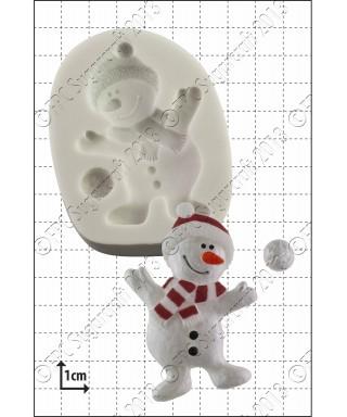 Moule Silicone Danse de bonhomme de neige FPC Sugarcraft