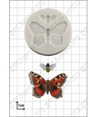 Moule Silicone Papillon et abeille FPC Sugarcraft
