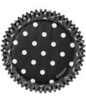 Mini Caissette cupcake Noir à pois pk/100Wilton