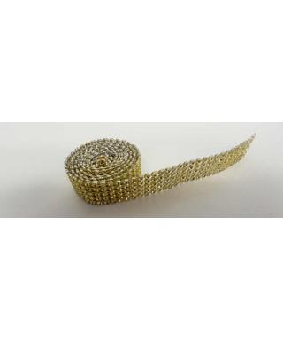 Bande de strass or 2,5 cm de haut