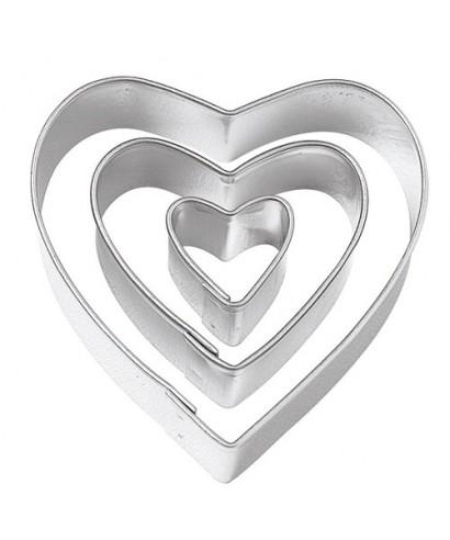 Emporte-pièce métal Trois Coeur Wilton