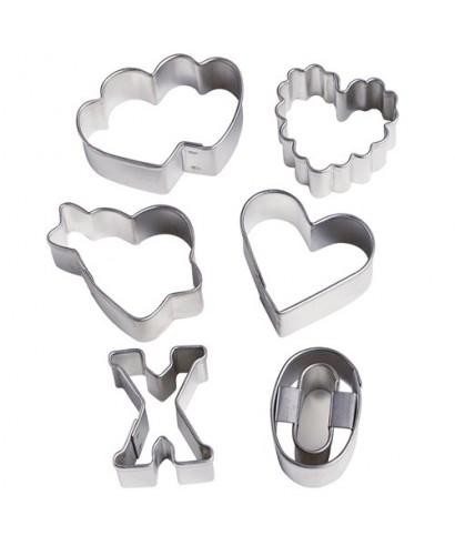 Emporte-pièce métal Mini Saint-Valentin set/6 Wilton