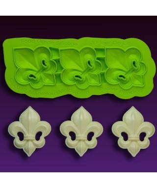 Tapis de texture silicone Fleur De Lis Marvelous Molds