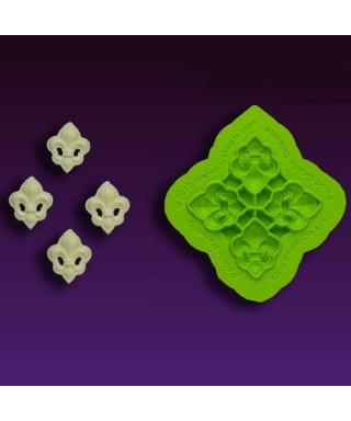 Tapis de texture silicone Fleur De Lis Mini Marvelous Molds