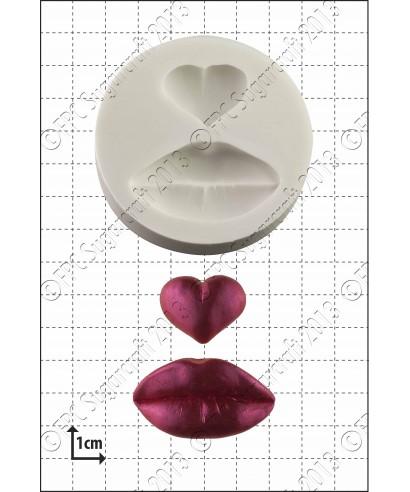 Moule Silicone Lèvres & Coeur FPC Sugarcraft
